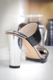 """Keiron"" metallic heel slip on mule $105.00 at Nine West"